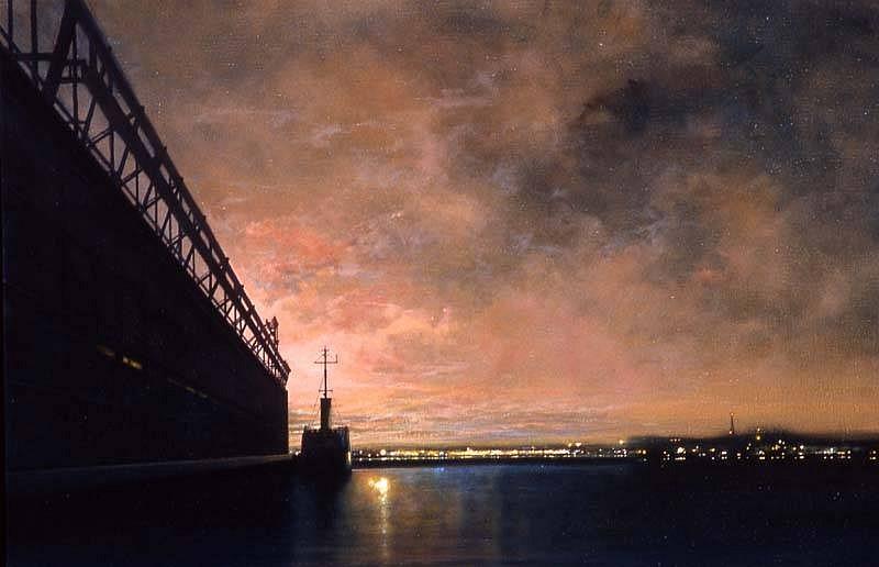 William Kennon, Pier 40, Evening 2005, oil on linen