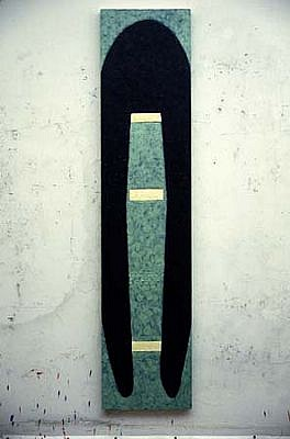 John King, Untitled 1986, encaustic on wood