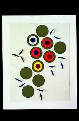 Joseph Kight, Au Printemps 2001, watercolor, board, wire, acrylic