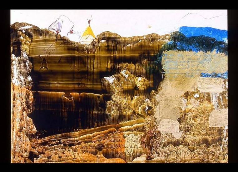 Laleh Khorramian, Crevasse - First Generation 2006, ink, oil on paper