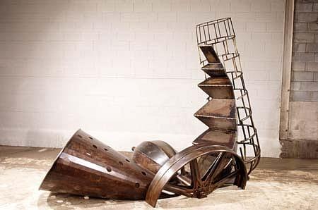 Jonathan Kirk, Oh, Easy for Leonardo 1991, painted steel
