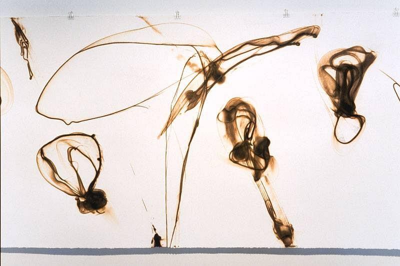 Etsuko Ichikawa, Fluid Moment (detail) 2007, glass, pyrograph on paper