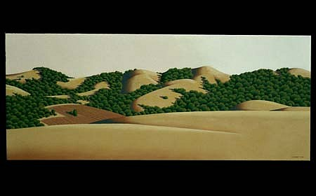 Ray Jacobsen, Evening Hills 2 2003, oil