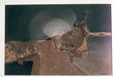 Ray Jacobsen, Primeval Moon 2001, acrylic, mixed media