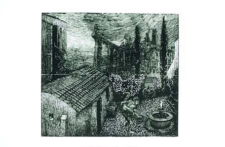 John Jacobsmeyer, Abduction 2000, wood engraving