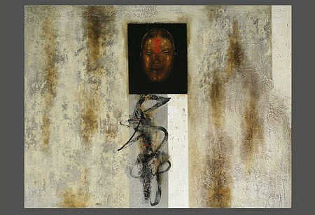 Mariola Jasko, The Mask II 2005, oil on canvas