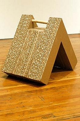 Jack Jeffrey, Untitled (Chock No. 6) 2003, cardboard, wood