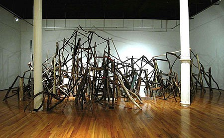 Sook-Jin Jo, All Things Work Together 2004, found wooden objects
