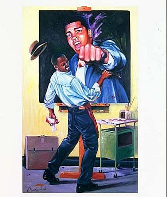 Patrick Johnson, You Can't Paint Me Sucka! 2002, oil on canvas