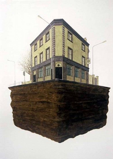 Stephen Johnson, Pub No. 2 2007, watercolor on paper