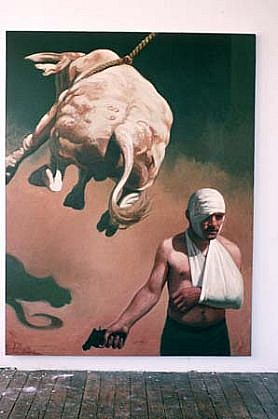 Nicholas Jolly, Pendulum 1994, oil on canvas