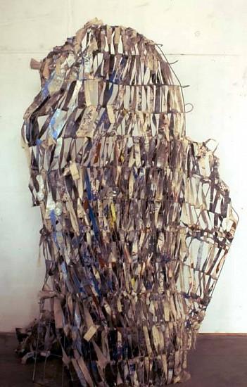 Geary Jones, Poseidon's Fist 2006, steel, canvas, wire, paint