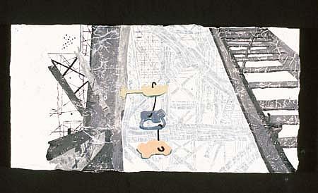 Peter Hildebrand, Bad Knee (Burgs' Series) 1997, latex, enamel on masonite