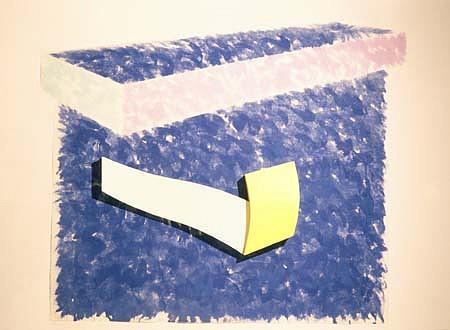 Charles Hinman, Aither 1992, acrylic on lutradur