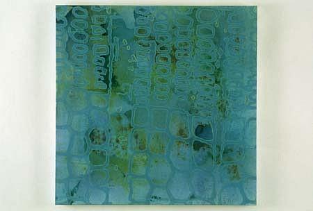 Carter Hodgkin, Blue 30 2001, dye, oil enamel, acrylic on canvas