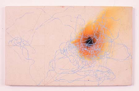 Nicholas Hondrogen, Natural Selection 2000, encaustic, oil and dye on canvas