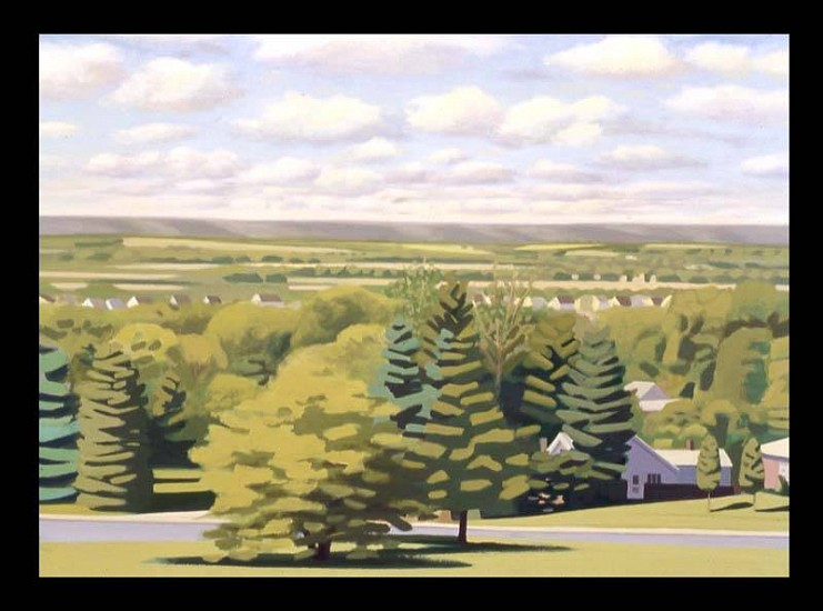 William Hudders, Suburban Landscape 2006, oil on canvas
