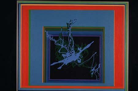 Jean Hyson, Thru a Glass Darkly 1994, acrylic, enamel