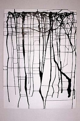 Mahmoud Hamadani, Untitled 2003, ink on paper