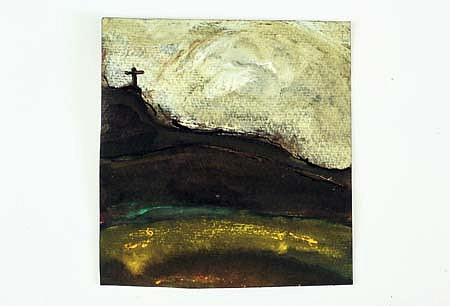 Patrick Hall, Cross on a Distant Hill 2005, ink and watercolor on paper