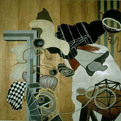 Ian Harvey, No. 100 1999 - 2000, mixed media on birch panels