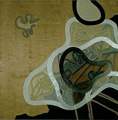 Ian Harvey, No. 99 1999, mixed media on maple panel