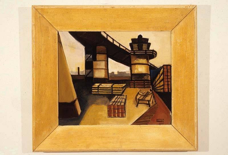 Arthur Hammer, Bridge Site 2007, oil on wood
