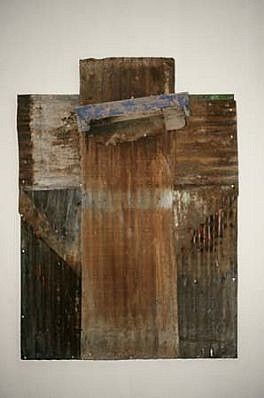 Harmony Hammond, Untitled 1989, oil on canvas, tin, wood
