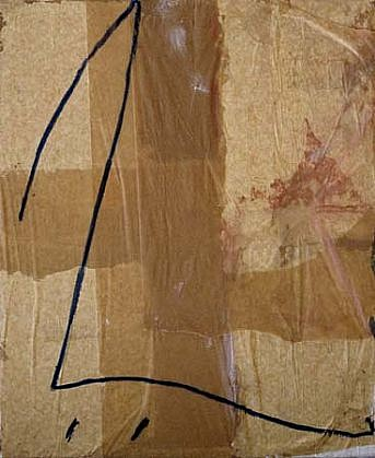 Robert Harding, Fragment 1995, oil and waxed paper on canvas