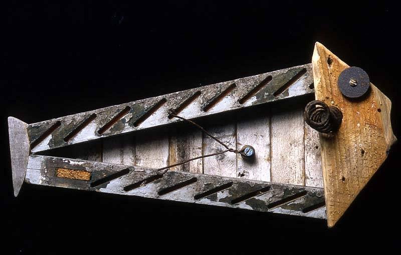 Conny Hatch, Wee Grouper 2006, wood, metal