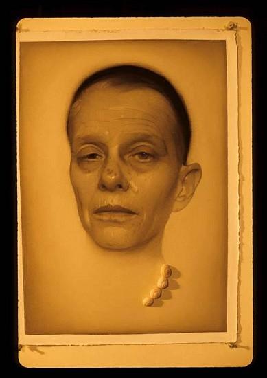 Susan Hauptman, Self Portrait 2007, charcoal, shells