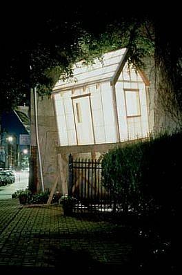 Alan Greenberg, A WHITEhouse 2000, wood, fiberglass, lights