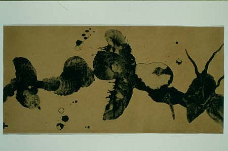 Virgil Grotfeldt, Out of Sight, Out of Mind 1997, coal dust on braille paper