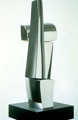 Roy Gussow, Stelae 3-6-87 1987, stainless steel and acrylic