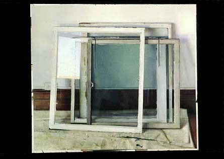 Christopher Gallego, Windows 2003 - 2004, oil on canvas