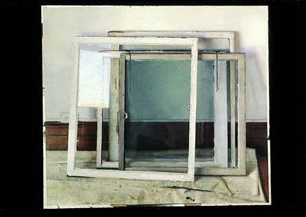 Christopher Gallego, Windows 2003 - 2004, oil on canvas