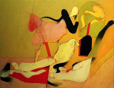 Frederick Garbers, Battle Scene Fragment 2004, acrylic