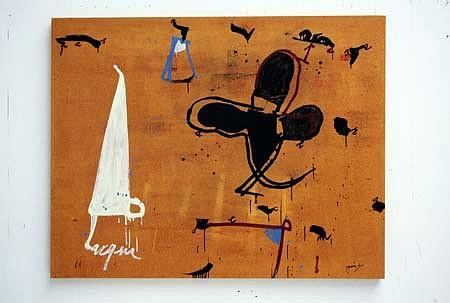 Jean Gaudaire-Thor, Acqua 2003, oil on canvas
