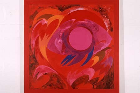 Sonia Gechtoff, Red Elephant Moon 1997, acrylic on canvas