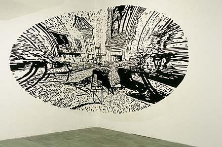 Cadence Giersbach, East Parlor 1996, latex on wall
