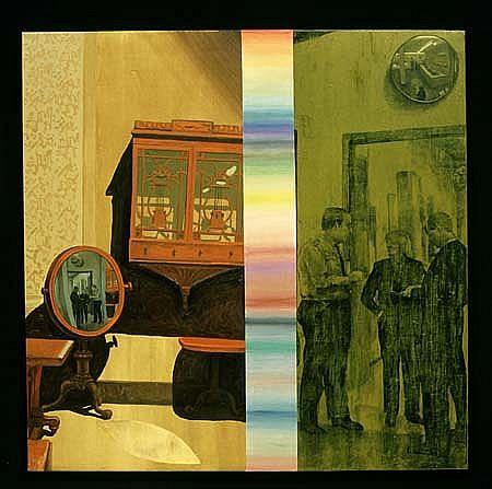Curro Gonzalez, La Conversacion 1996, oil on canvas