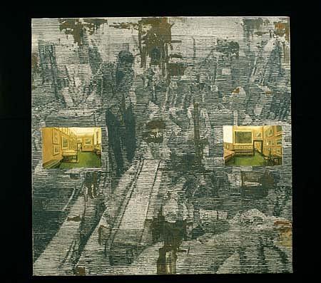Curro Gonzalez, La Batalla de los cuadros 1996, oil on canvas