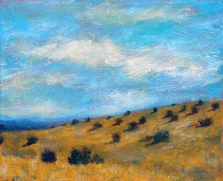 Lori Gordon, Hillside acrylic on canvas