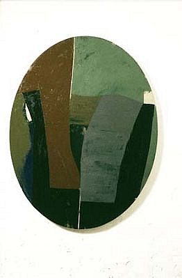 Richard Gorman, Oval 1995, oil and tempera on linen