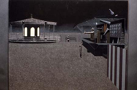 Warren Farr, Cones 1989, oil on panel