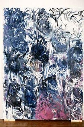 Faye Fayerman, Battement de Coeur 1991, pigment, oil on canvas