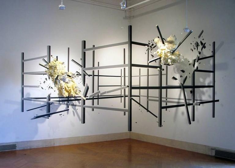 Heide Fasnacht, Jump Zone 2008, tape, styrofoam, neoprene