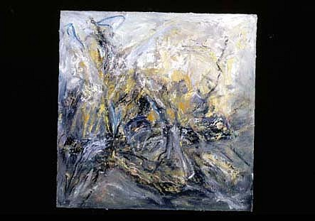Lilly Fenichel, Burnt Bosque 1995, oil on board