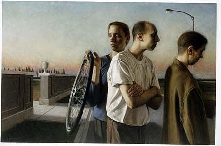 Paul Fenniak, Crossing 1998, oil on canvas