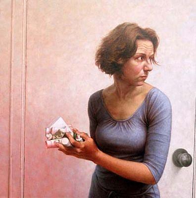 Michele Fenniak, First Aid 2003, oil on panel
